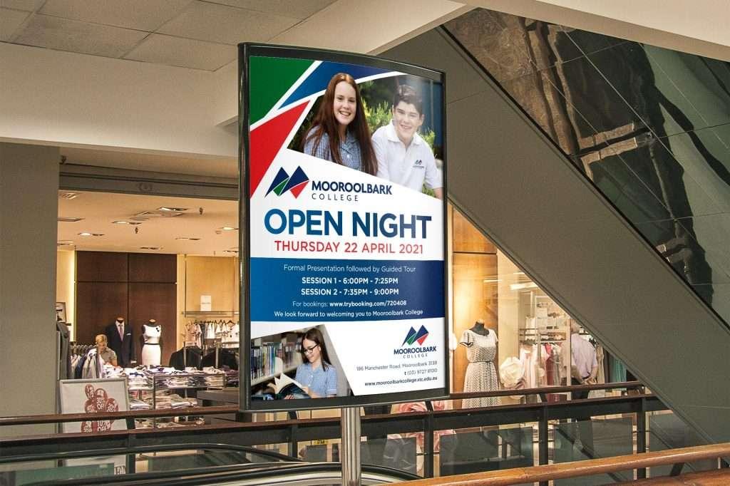 Mooroolbark College Indoor Advertising Poster Signage